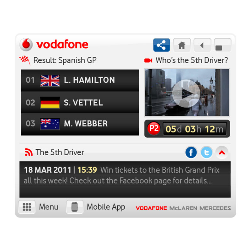 Vodafone McLaren Mercedes - Transforming dispaly media into a content channel