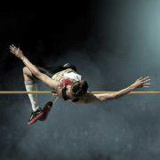 High jumper Fosbery flop