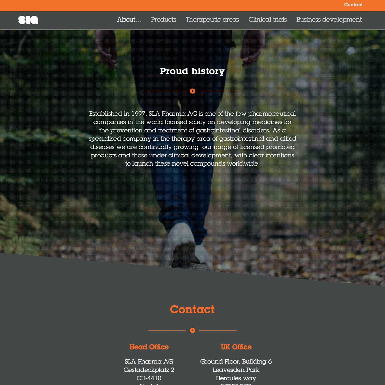 SLA website - Proud history