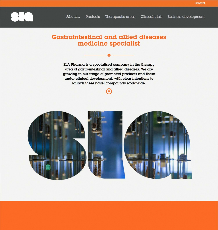 SLA website - Home screen